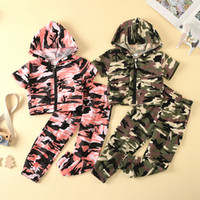 Baby Boy Clothes Clothing Set Short Sleeve Camouflage Hooded...