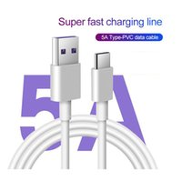 5A Super Fast Charger Type C USB C Cable Data Sync Cord For Samsung Galaxy S30 S20 S10 S9 S8 Note 10 9 8 for Huawei Mate 30 20 P30 P20 P10