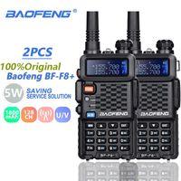 2pcs Baofeng BF-F8 + Walkie Talkie 듀얼 밴드 VHFUHF SMA-F 두 웨이 라디오 BF F8 + F8 Comunicador Ham CB 무선 범위 HF 트랜시버