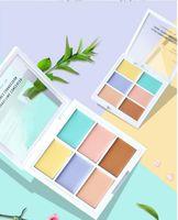 2020 6 couleurs visage professionnel maquillage maquillage concepeleuse palette de cachette de concepeleur fondateur maquillage maquillage couvre-neuf femme cosmétique