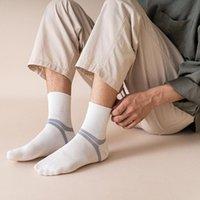 Meias de tubo masculino outono inverno simples algodão meias harajuku skate de malha casual esportes moda