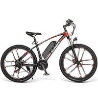 SameBike My-SM26 Bicicleta de montaña eléctrica Dos ruedas Bicicletas eléctricas con batería extraíble 26 pulgadas 350W 48V 30km / h Bicicleta de scooter eléctrico