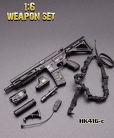 """1/6 escala mini hk416 série m4 séries rifle arma arma arma brinquedos para 12 """"Action figura acessórios coleções DIY"""