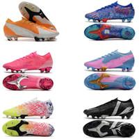 최고 품질 남성 축구 부츠 Mercurial 13 엘리트 SG 축구 신발 CR7 Superfly 야외 크램프 축구 클리트