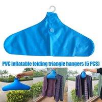 5 PCS PVC Gonflable Gonflable Porte-vêtements Porte-manteau Portable Porte-manteaux Portable de Voyage à domicile Voyage de voyage FP8 201111