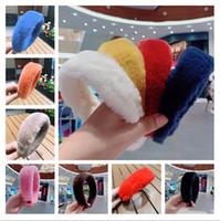Kadın Peluş Bulanık Bantlar Gilrs Tavşan Kürk Hairbands Vintage Saç Aksesuarları Saç Bantları Kış Chirstmas Parti Takı Kafa E121704