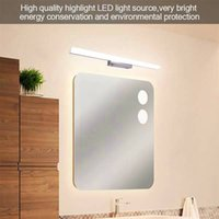 Nuovo design 12W 80 cm Nuova e intelligente Lampada Lampada da bagno Barra luminosa da bagno Argento Luce bianca Alta luminosità Luminosità di alta qualità