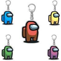 Aramızda Anahtarlık Uzay Kurt Akrilik Renkli Anahtarlıklar Karikatür Oyunu Anahtar Tutucu Paslanmaz Çelik Araba Tuşları Çanta Sarkık Doğum Günü Hediyeleri