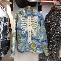 Kapital Рубашка Мужчины Женщины Streetweart Hawaii Style Beach Tees Kapital Длинные Рукава Случайные Рубашки # LB4P