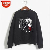 Harajuku Angriff auf Titan Unisex Hoodies Japanische Anime Mikasa Ackerman Printed Herren Hoodie Streetwear Beiläufige Sweatshirts # I55W