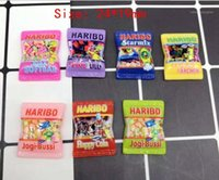 Charms Japanese Dibujos animados Simulación Haribo Candy Kawaii Flatback Resina Cabochon Scrapbooking Ajuste Teléfono Teléfono Llantas de pelo DIY Accesorios1