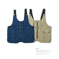 Iídosan chaquetas tácticas hombres nuevos bolsillos de herramientas chaleco hombres verano fotógrafo trabajo sin mangas chaquetas moda mono mujer tops 201120