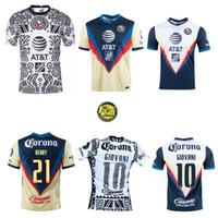2020 2021 Club América futebol Jersey Home 3rd 20 21 Escoboza Henry F. Viñas P.Aguilar Roger Martinez Giovani E.Aguilera Camisa de Futebol