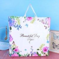 البلاستيك التسوق التعبئة حقيبة الملابس زخرفة سيدة أكياس تغليف المرأة الأزياء الزهور الفراشات حقائب جميلة الساخن بيع 0 69HH F2