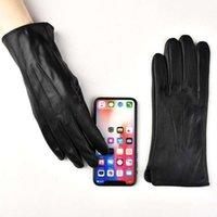 Autunno delle donne con in pelle d'inverno in pelle di ispessimento cashmere caldo touch-screen a vite a vite a vite e ciclismo Guanti da montone