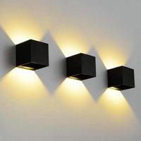 Duvar Lambası 10 adet / grup 12 W Dim COB IP65 Küp Ayarlanabilir Yüzey Monte Açık LED Lightig, LED İç Mekan Işığı, Yukarı Aşağı