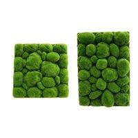 장식 꽃 화환 인공 이끼 잔디 시뮬레이션 녹색 잔디 돌 모양 잔디 벽 가짜 식물 DIY 홈 정원 풍경 decorati