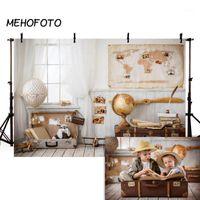 Mehofoto Children Travel Photography Backdrops Recém-nascido Bebê Menino Quarto Brinquedo Piloto Fundo Photobooth Photo Studio Props1