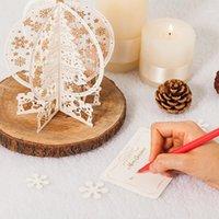 1 ADET Merry Christmas Kart 3D Kar Tanesi Lazer Kartları Kağıt Zanaat Yukarı Hediye Kutusu Festivali Tebrik Kartları için Mutlu Yeni Yıl1