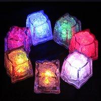 RGB Flash LED Cube Lights Eiswürfel Lichter Blitz Flüssig Sensor Wasser Taucher LED Bar Leuchten für Club Hochzeit Champagner Turm