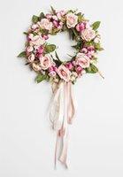 Guirnalda rosa guirnalda con elegante mejor para la puerta de la pared de la pared y la decoración de la ventana decoración de la flor de la boda A
