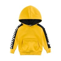 Kids Girls Boys Hoodies Childrenwear Outerwear Amarillo Azul Capucha Chicas Chicas Sudadera Ropa para niños para 3 4 6 8 10 AÑOS 201022