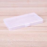 Armazenamento de caixa transparente flip conjunined caso ferramentas de plástico jóias mulher homem retângulo pequeno branco organizador de embalagem 0 56QH K2