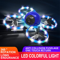 LED ضوء مروحية مصغرة ufo rc 1080 وعاء hd كاميرات الطائرة بدون طيار استشعار اليد الارتفاع حقل quadcopter flayaball طلقة صغيرة اللعب