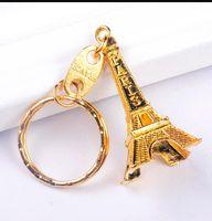 Eiffelturm Keychain Stamped Paris Frankreich Turm Anhänger Schlüsselanhänger Geschenke Mode Gold Splitter Bronze PS0706