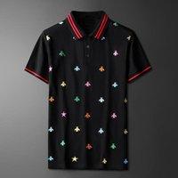 Alto nuevo rayado 2020 hombres collar bordado araña bee fashion polo camisetas camisa hip hop monopatín polos de algodón top tee # n229