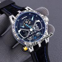 Novo Excalibur Spider Rddbex0749 Tourbillon Mens automático Assista Esqueleto Dial Titanium Steel Case Borracha Strap Sport Watches Hello_Watch