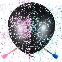 Decorazione del partito 36 pollici Big Black Latex Balloon Balloon Articoli per il genere di compleanno di nozze Rivelare Baby Shower Girl rifornimenti
