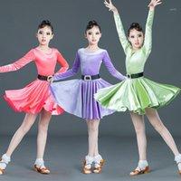 3Colors Kindertag Lateinische Tanzkleid Kinder Kleider für Mädchen Cha Cha Rumba Samba Jive Vestidos Dance Kostüm Ballrom Dancing1