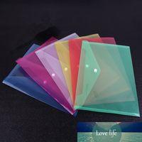 1 adet Plastik Zarflar Premium Kalite Temizle Belge Klasörleri Snap Düğmesi Kapatma Ile Şeffaf Proje Zarf Klasörleri