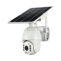 Charge solaire 4G WiFi IP PTZ Caméras 4G Panneau solaire POWER POWER IP Speed Dome Cameras P2P Mobile App Contrôle Cloud Caméra1