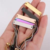 Rvs Bar lege armband DIY Custom gegraveerde gepersonaliseerde verstelbare armband voor vrouwen mem vriend sieraden geschenken coupl 80 k2