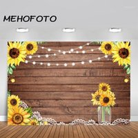 Materiale di sfondo Materiale Mehofoto Rustico Legno Sunflower Sfondo in legno Texture Bordo Wedding Bridal Doccia Bridal Birthday Party Pografia Backgrou