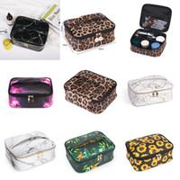Leopard Print PU Bolsa de cosmética Viaje multifuncional Impermeable Empresa de aseo Bolso Capacidad de gran capacidad Cosmética Cuidado de la piel Producto Bolsa de almacenamiento XD24290