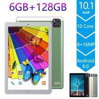 10,1 polegadas tablet PC Android 9,0 Os Octa Core Dual SIM 4G Phablet 2.5D Tablet 6GB RAM 128GB Rom Bluetooth WiFi PC1