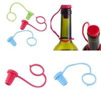 مكافحة خسر سيليكون زجاجة سدادة شنقا زر الحمراء النبيذ البيرة كاب المكونات النبيذ سدادات شريط أدوات FFA335 500 قطع 43 J2