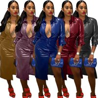 Feste Farbe Womens Designer Trenchcoats Mode Einreiher Täfelte Frauen PU Windjacke Casual Weibliche Kleidung