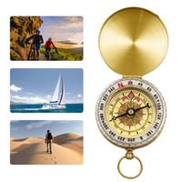 Camping portable Randonnée Compas Haute Qualité Pure Pur Purmshell Compass Lumineux Activités Extérieur Guide de pointage Outils