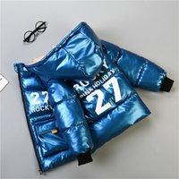 Escudo Niños Invierno 2020 2-6T chaqueta de la cara brillante ropa acolchada de Nueva gruesa abajo Niños