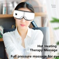 Luxurys Version Bluetooth Eye Massager Hot Compress Therapy Glasses Eye Care Fatigue Relieve Vibration Eye Mask Massage Machine