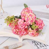 Buquês de flores artificiais falsificados 10 cabeças de seda flores decoração para mesa casa escritório casamento decoração de festa ppb4550