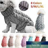 Ropa de perros de punto de invierno Suéter de puente cálido para Pequeño PET PET PEQUEÑO CAPA DE PEQUEÑO Punto de ganchillo Jersey Jersey Perro