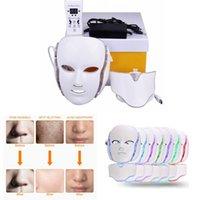 7 색 LED PDT PDT 광 역동적 인 라이트 테라피 Microcurrent EMS 피부 회춘 페이셜 마스크 여성 미용 전기 기계 장치