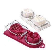 Cocina, Comedor Bar Home Garderinging Herramientas Slicer Fruite Huevo Cutter Cutter Cortar Gadgets con alambres de acero inoxidable Ideal para Sandwic