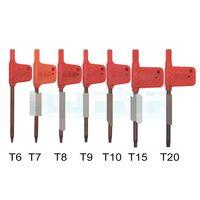 2020 T6 T7 T8 T9 T10 T15 T20 Torx Screwdriver Spanner Key Small Red Flag Screw Drivers Tools 200pcs/lot