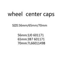 20 teile / los 56mm 65mm 70mm Rad Mitteltasche Kappe Hub Caps Emblem Abzeichenabdeckungen Autozubehör Styling 3B7601171